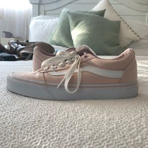 classic pink and white vans